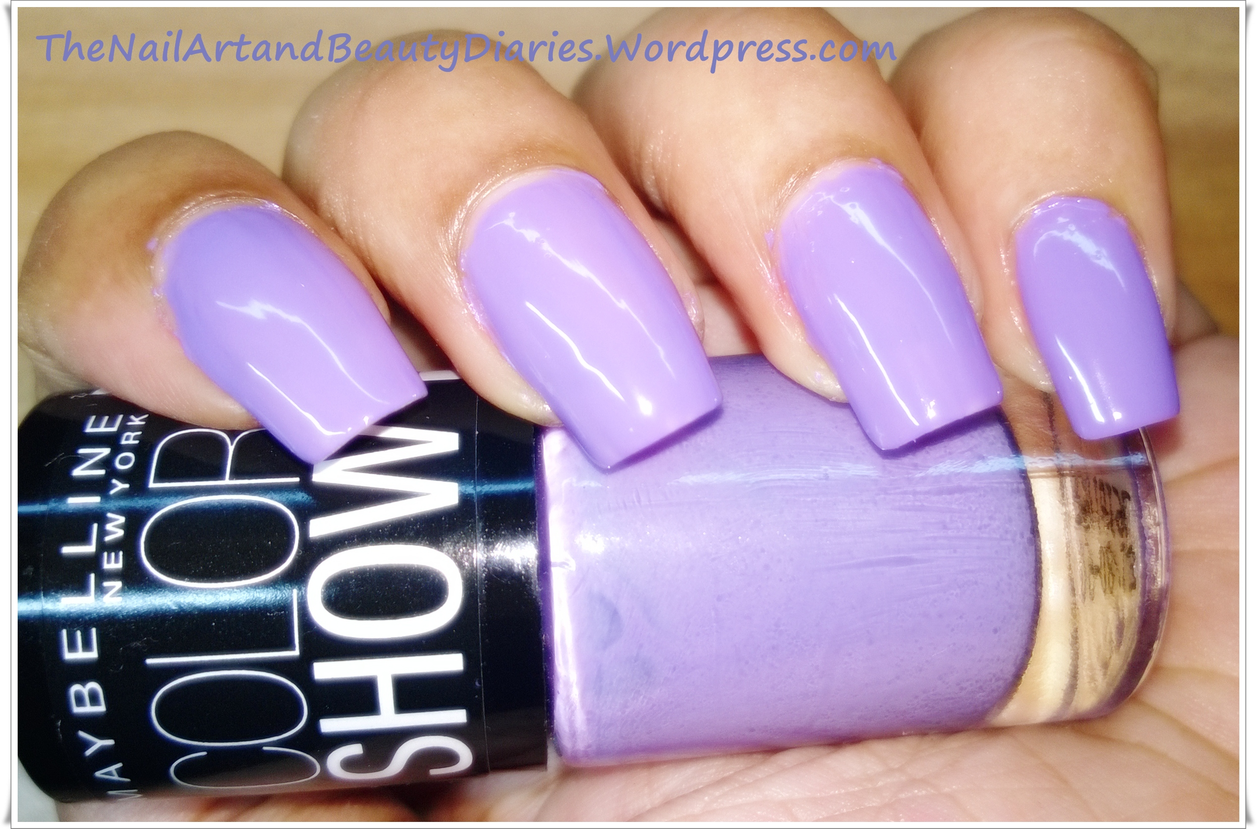 Maybelline ColorShow \'Lavender Lies\' Nail Polish Review | The Nail ...