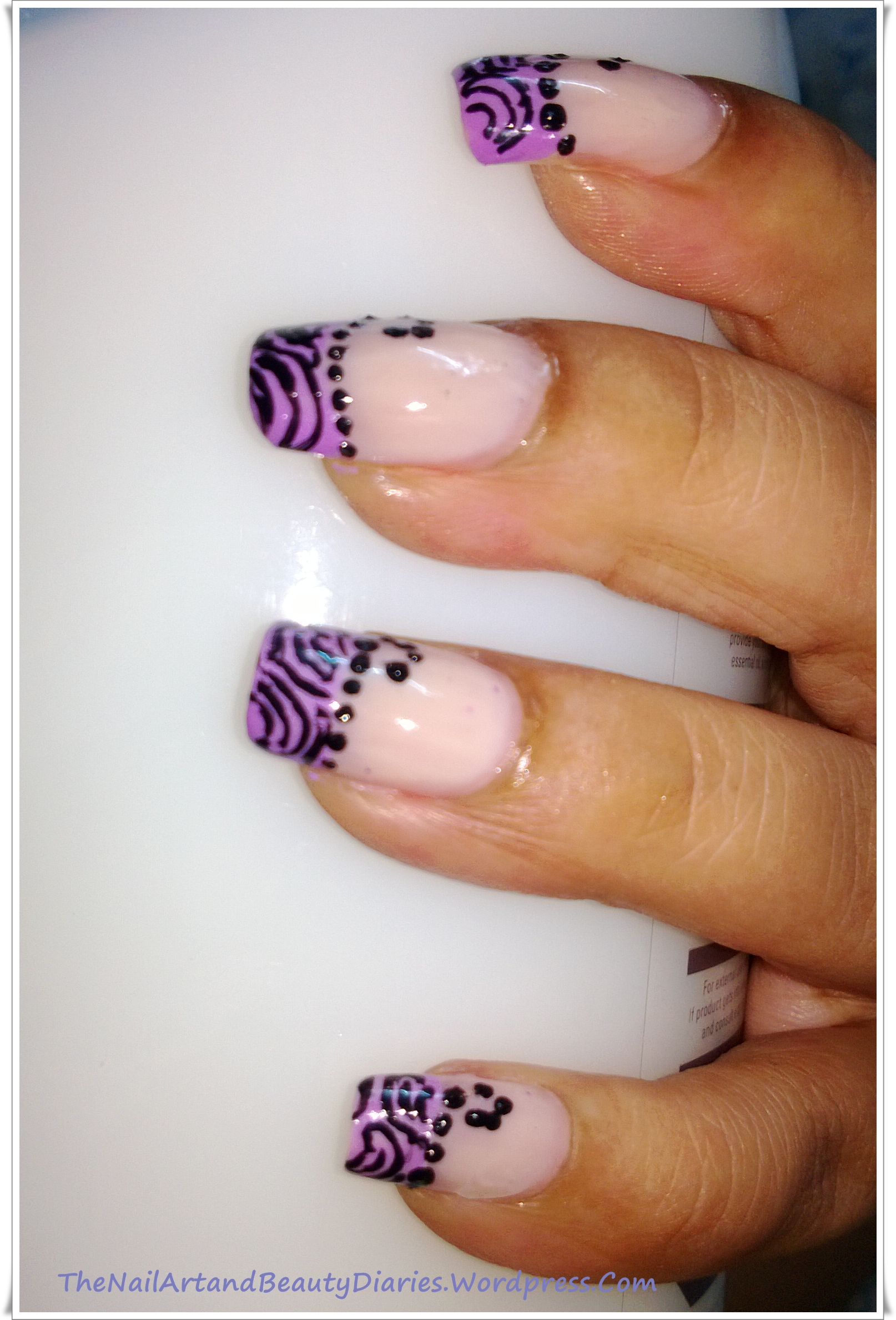 Soft Stripes in Lavender French Nail Art | The Nail Art and Beauty ...