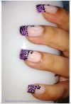 Soft Stripes in Lavender French Nail Art