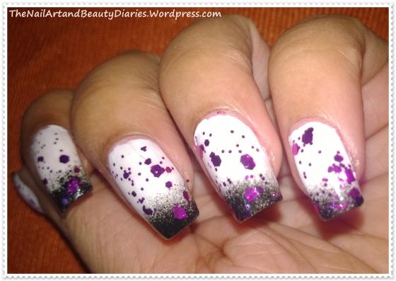 Glitter Pick-a-boo Nail Art