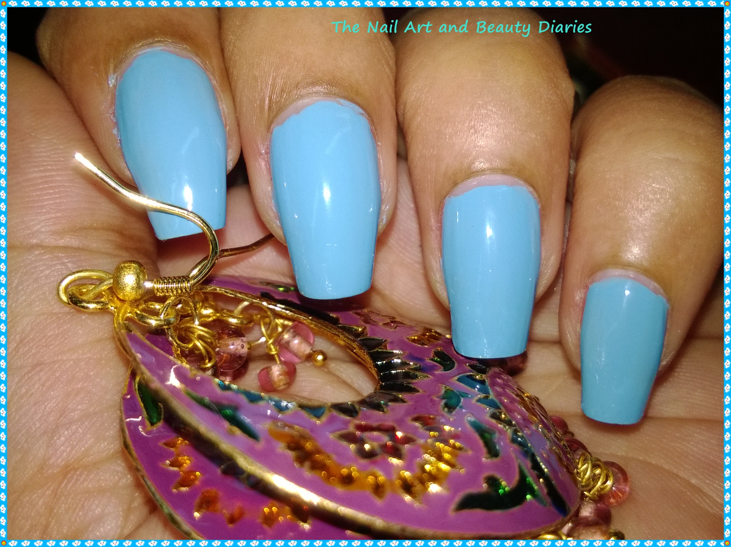 Maybelline Color Show Blue Berry Ice Review | The Nail Art and ...