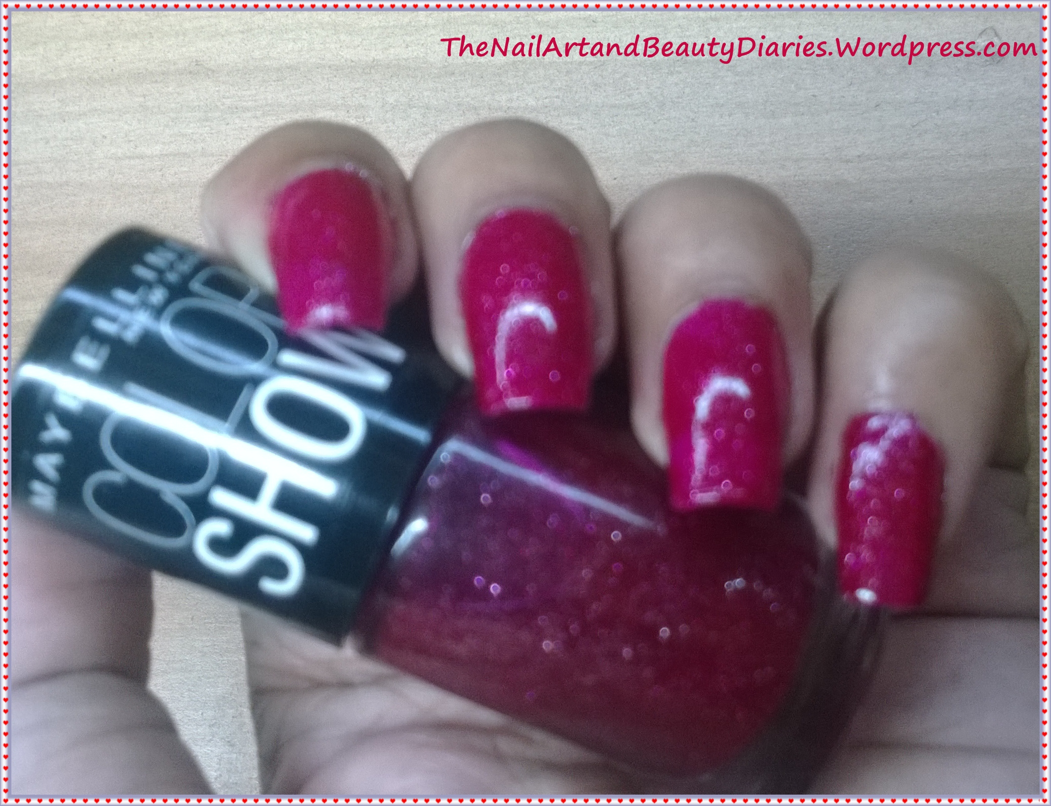 Maybelline Color Show Velvet Wine Nail Polish Review | The Nail Art ...