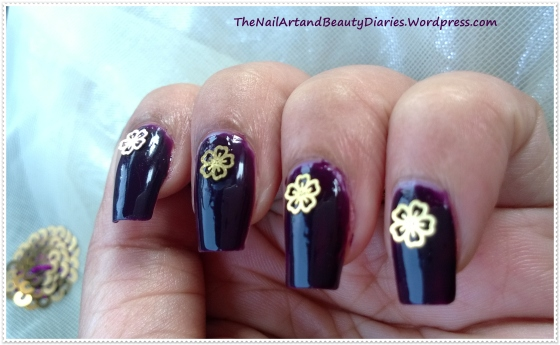 Devil Wears Gold Nail Art