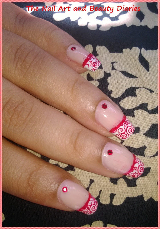 Elegant French Red Nail Art