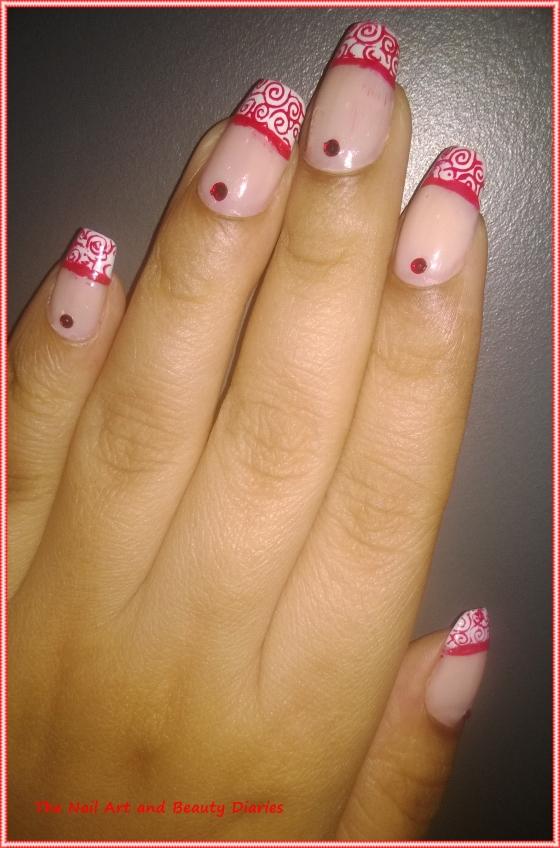Elegant French Red Nail Art