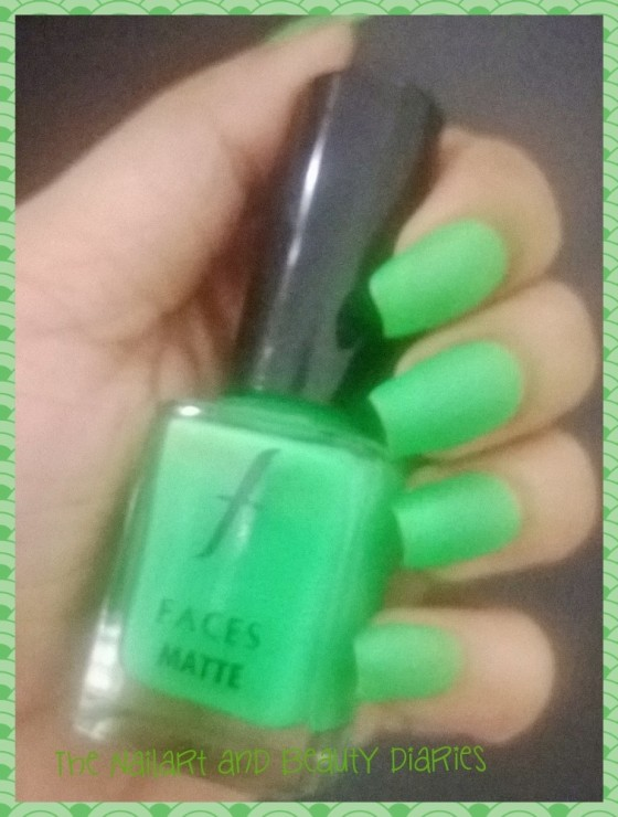 Faces Matte Nail Enamel Greed: Review and Swatches