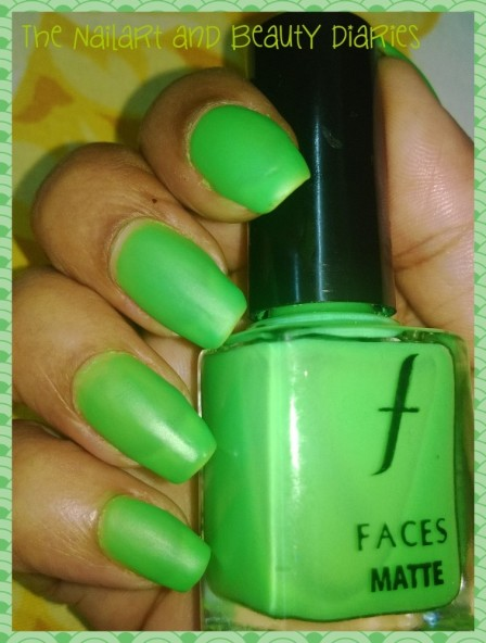 Faces Neon Matte Greed Polish Review Shade 73