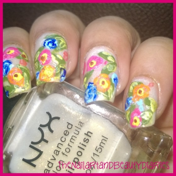 Wild Flower Nail ARt