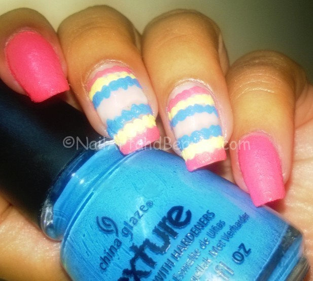 Textured Ruffle Nail Art
