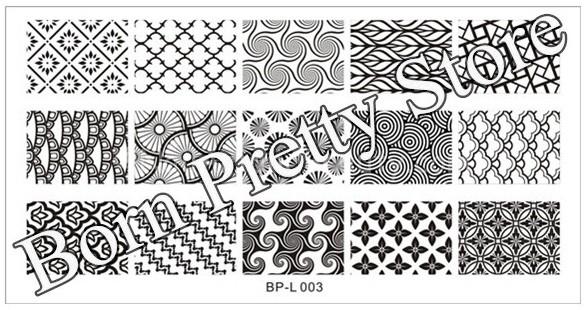 BornPretty Store Plate L003