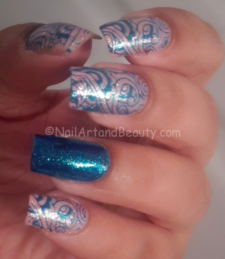 Nail Art on Essence Glitz and Glam Swatches