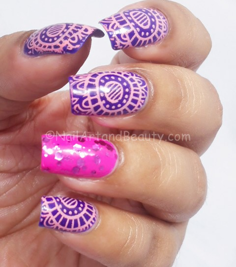 Bright Stamping Nail Art with Orly Adrenaline Rush