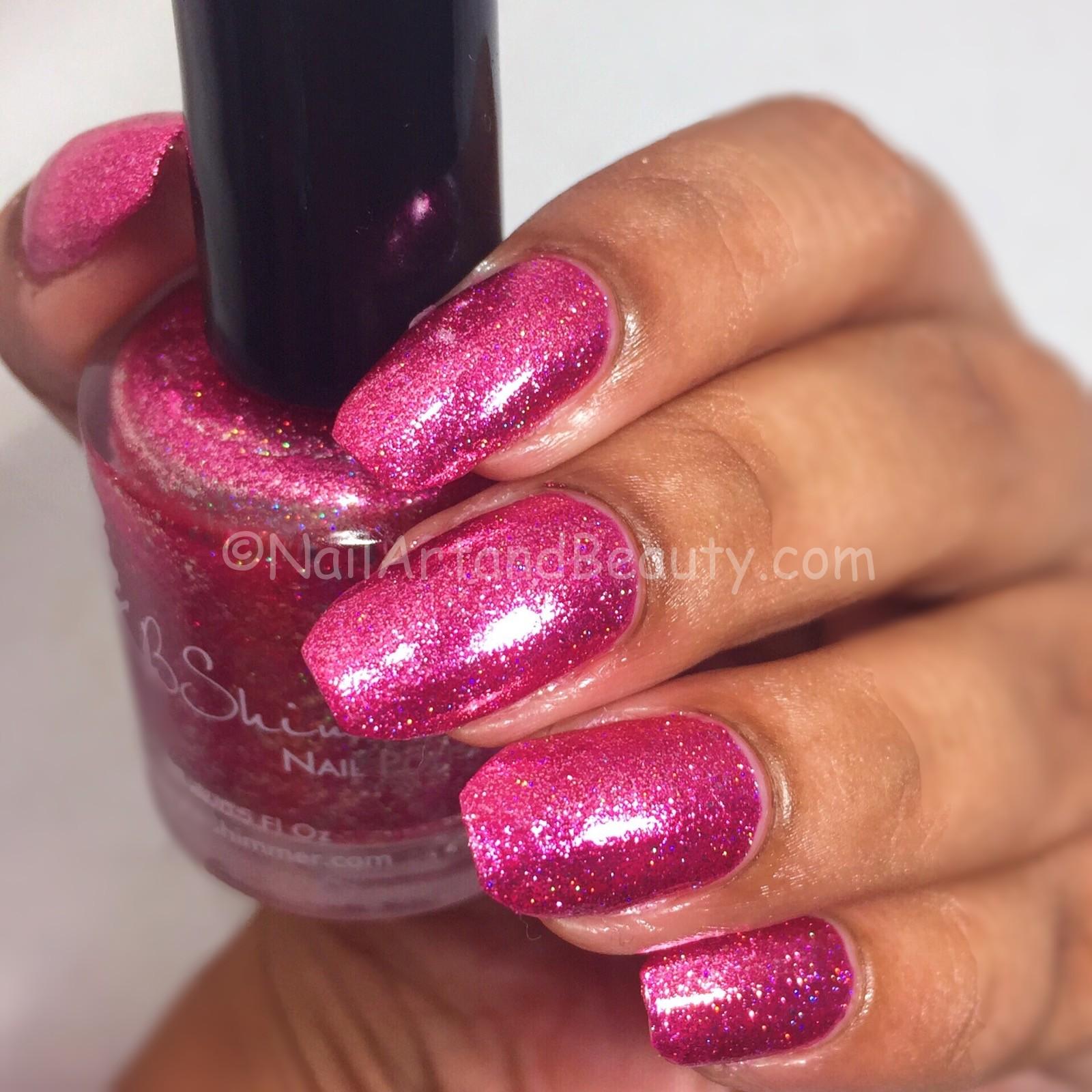 KB Shimmer Pink Tourmaline Swatch