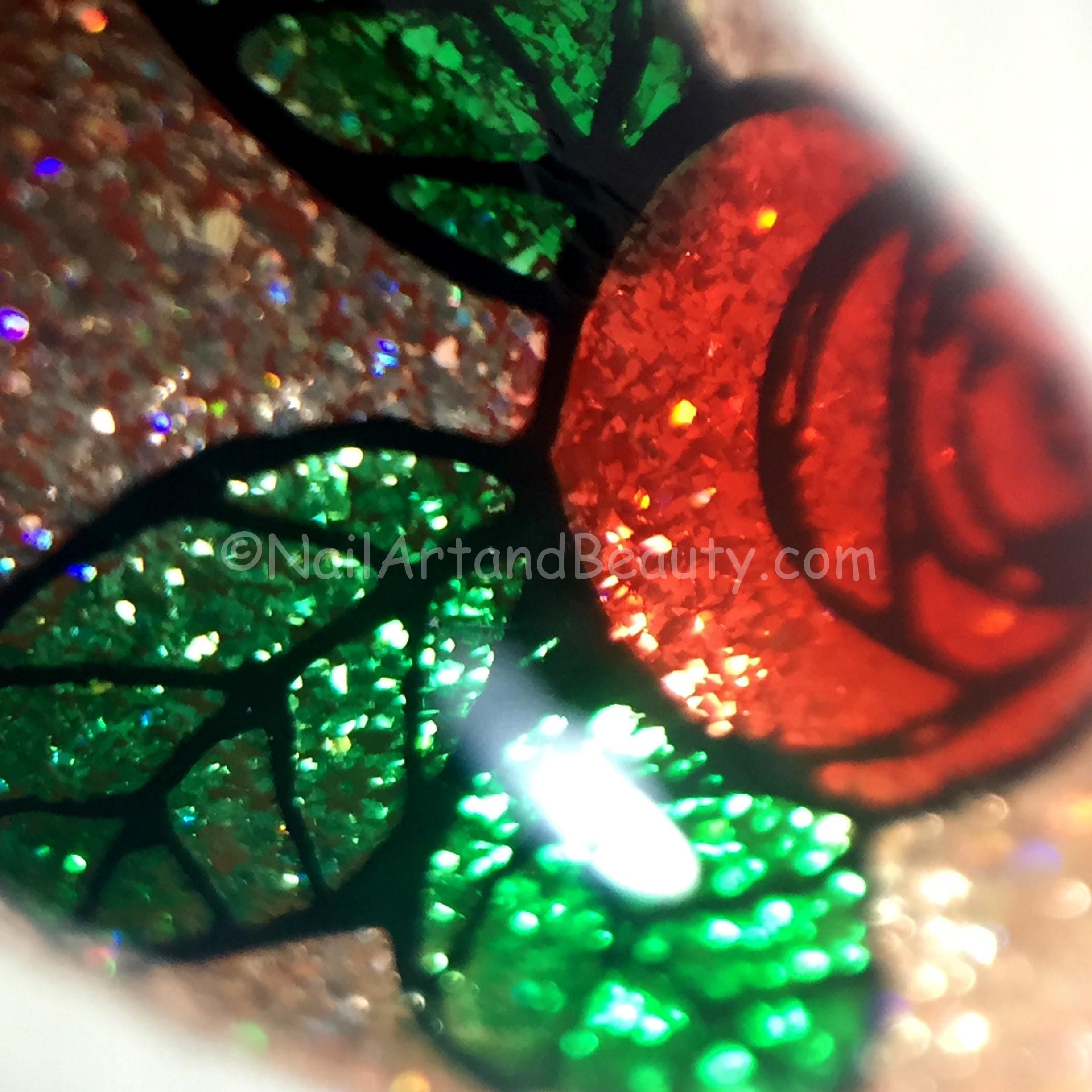 Metallic Lead Light Roses Macro