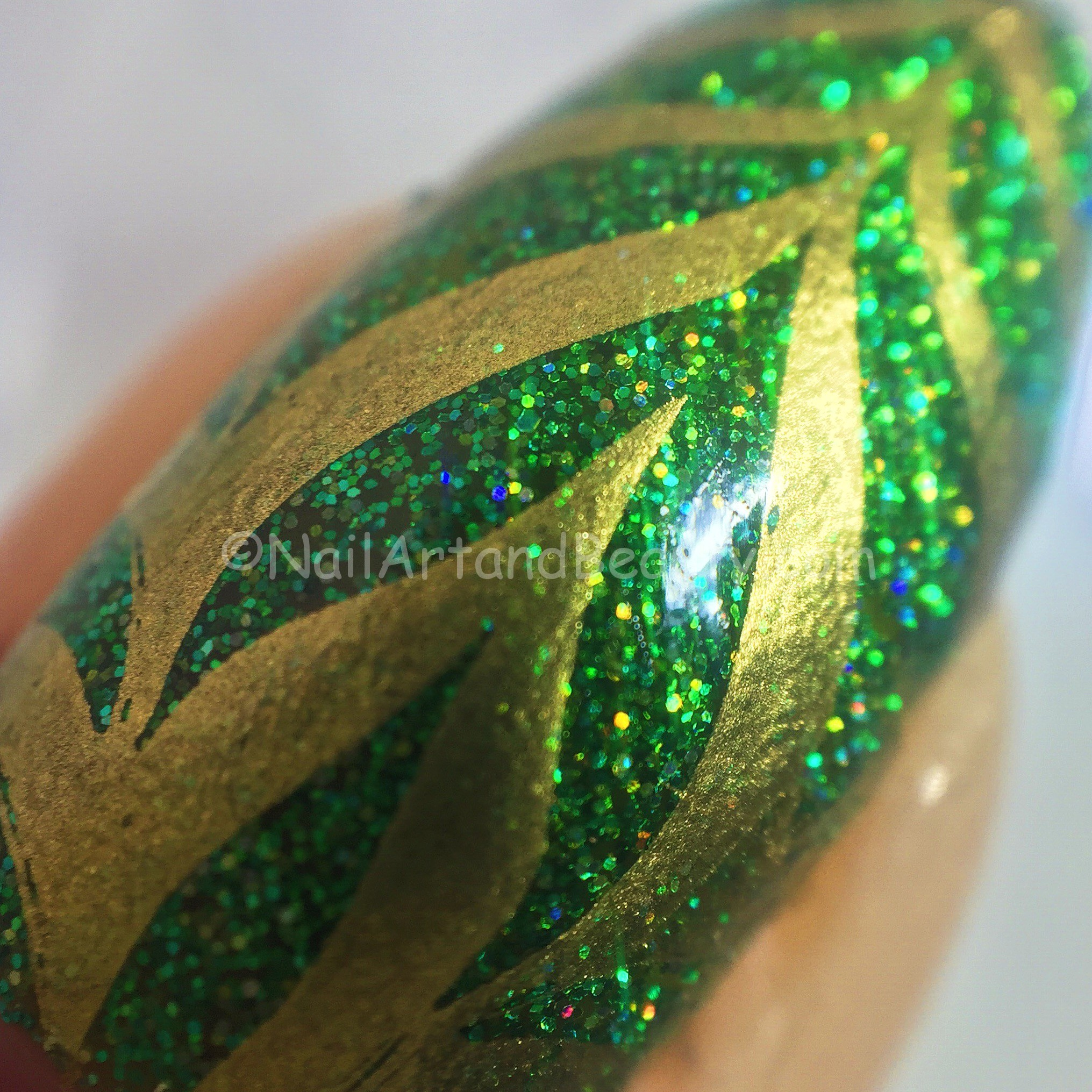 Water Marble Nails Close Up