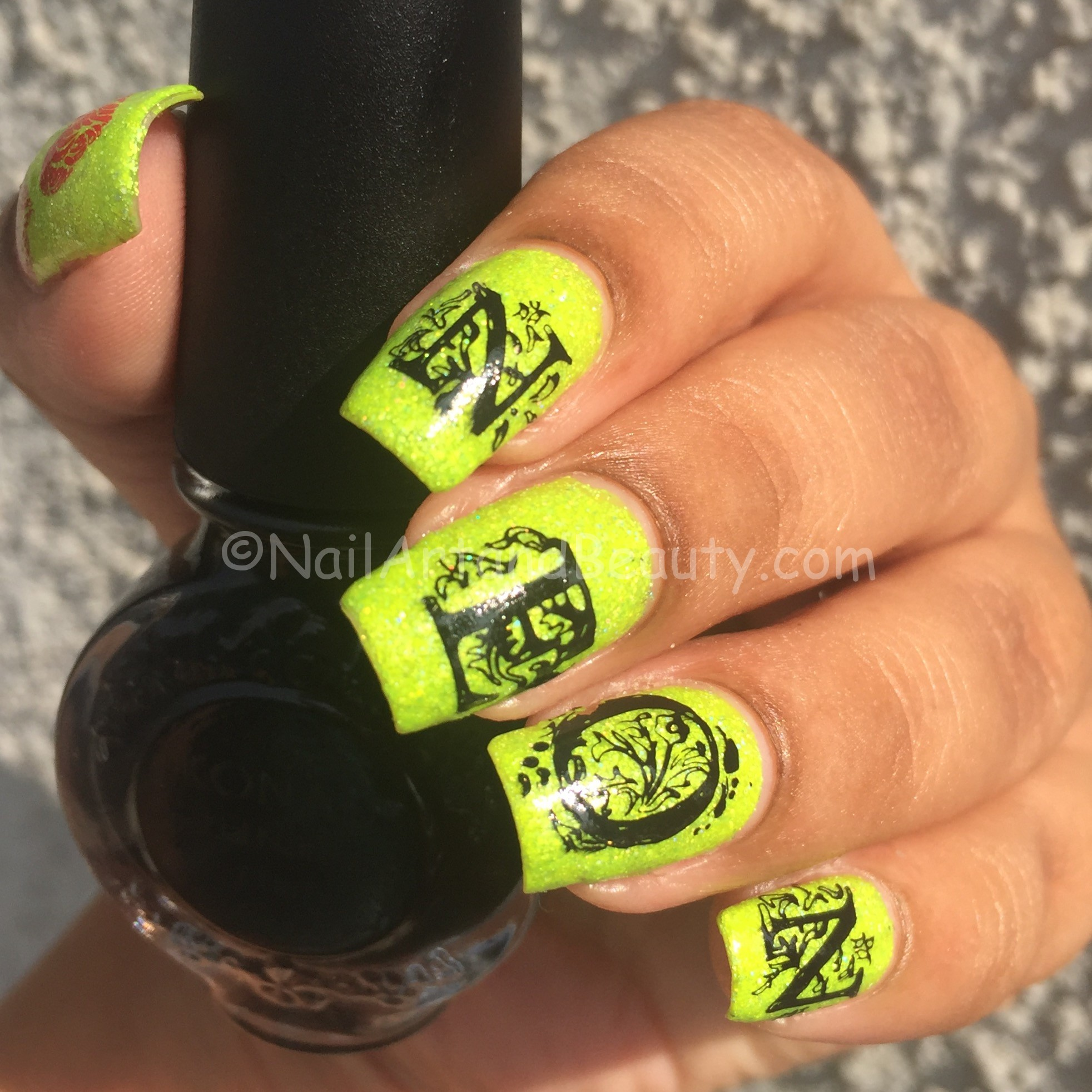 Love Neon NailArt on Different Dimensions Soak Up in Sun
