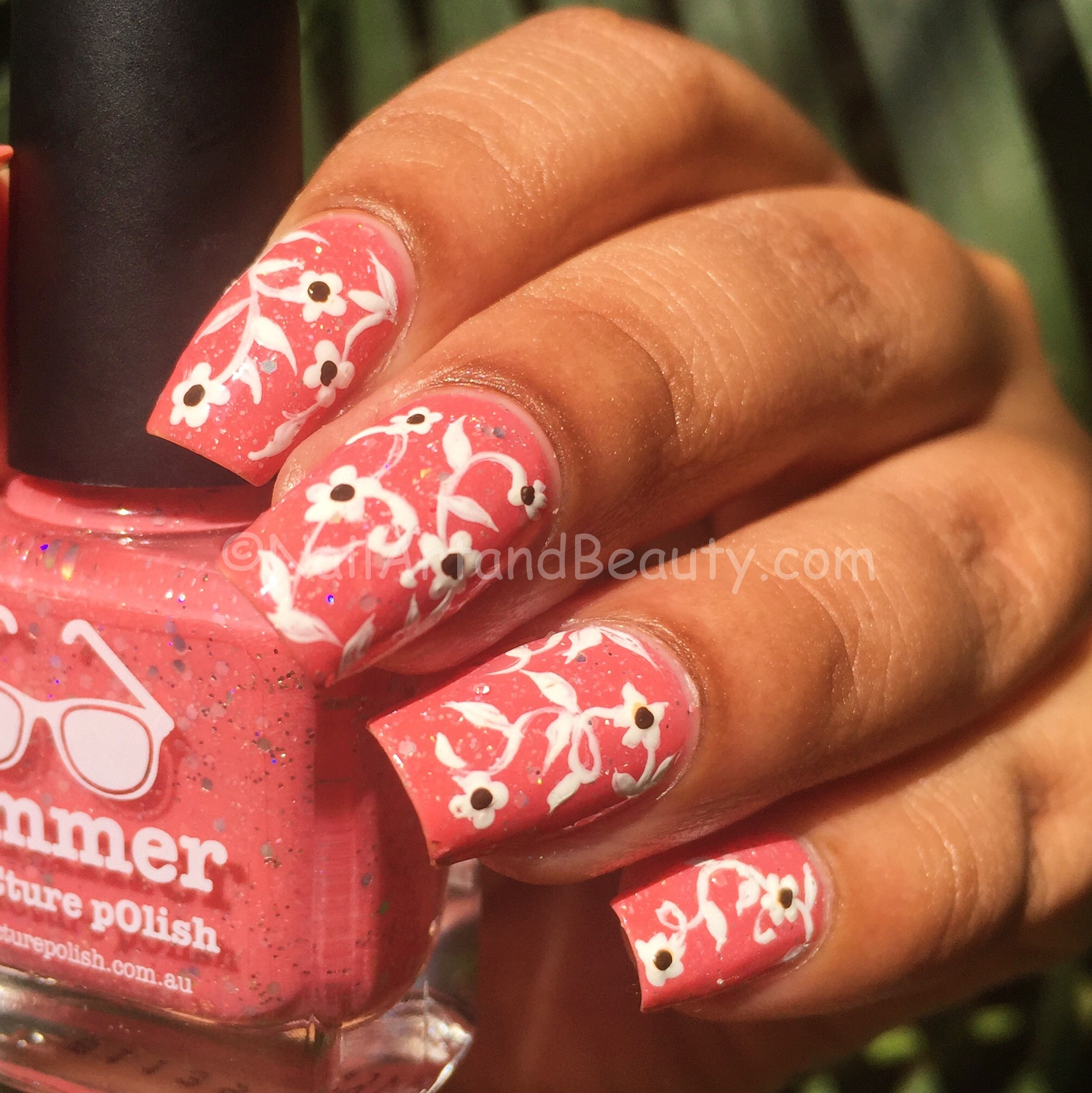 Floral Vine on Picture Polish Summer