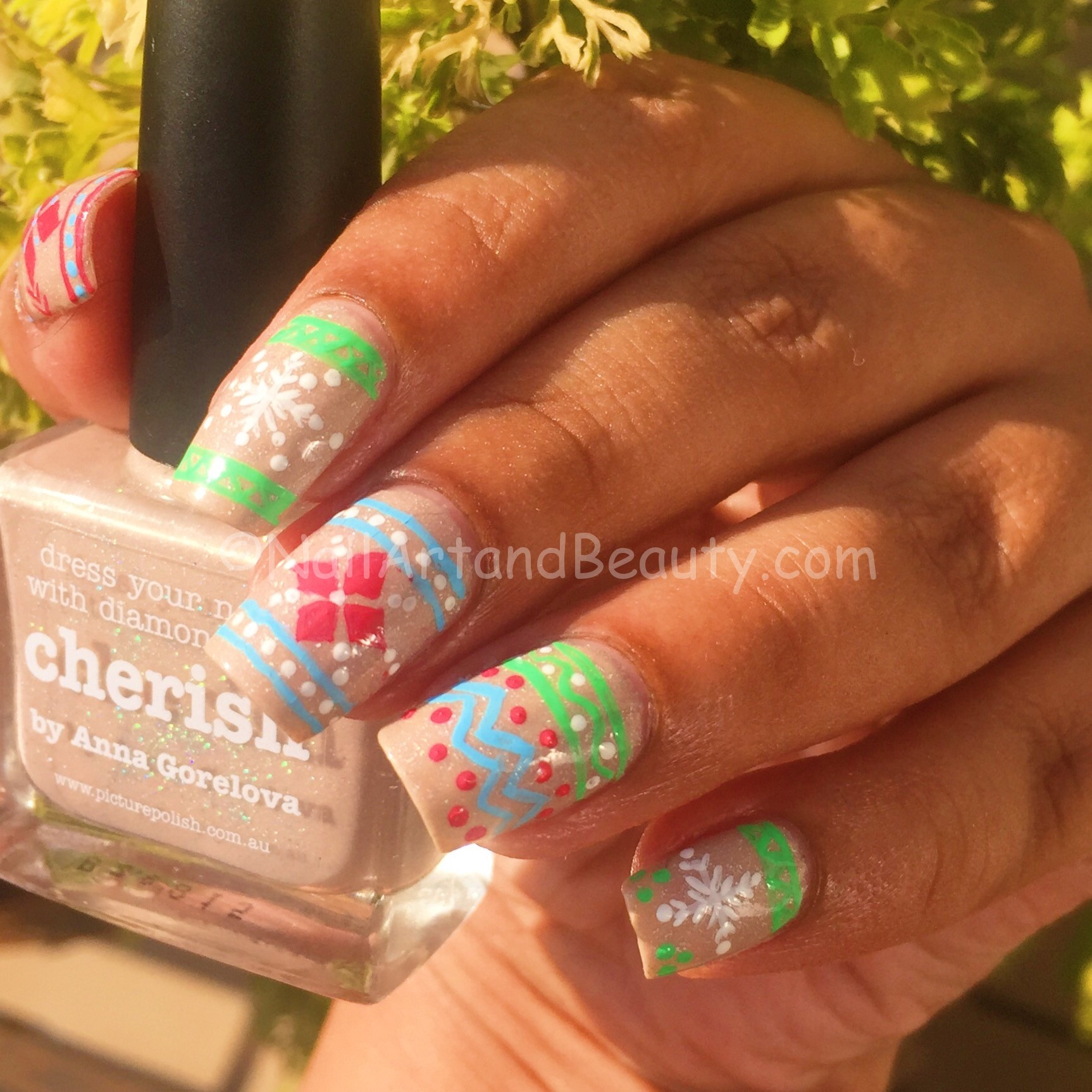 Candy Colors Sweater Mani on Picture Polish Cherish