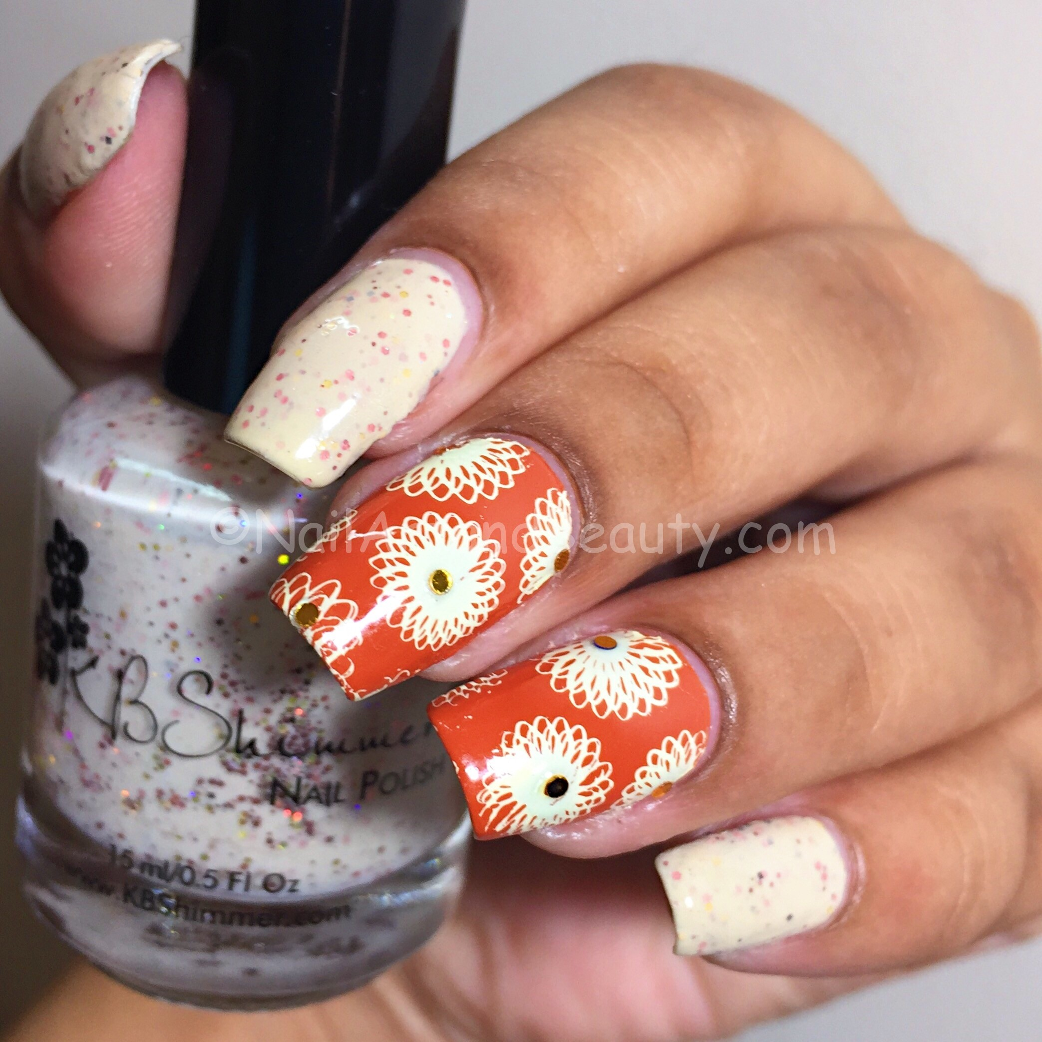 Simple Nail Art on KB Shimmer Tiers of Joy