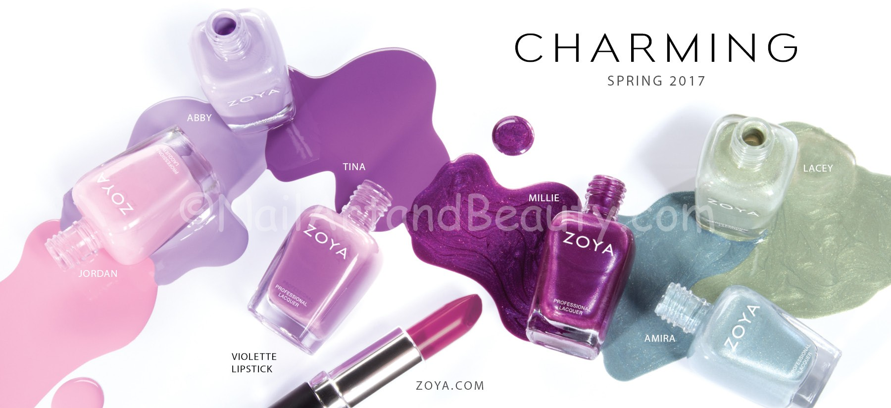 Zoya Charming- Spring 2017 Collection with Lipsticks