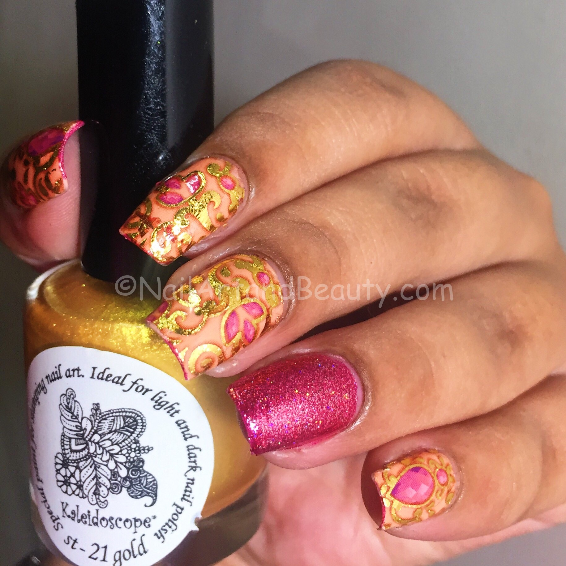Egyptial Prints inspired Nails using MILV Decals
