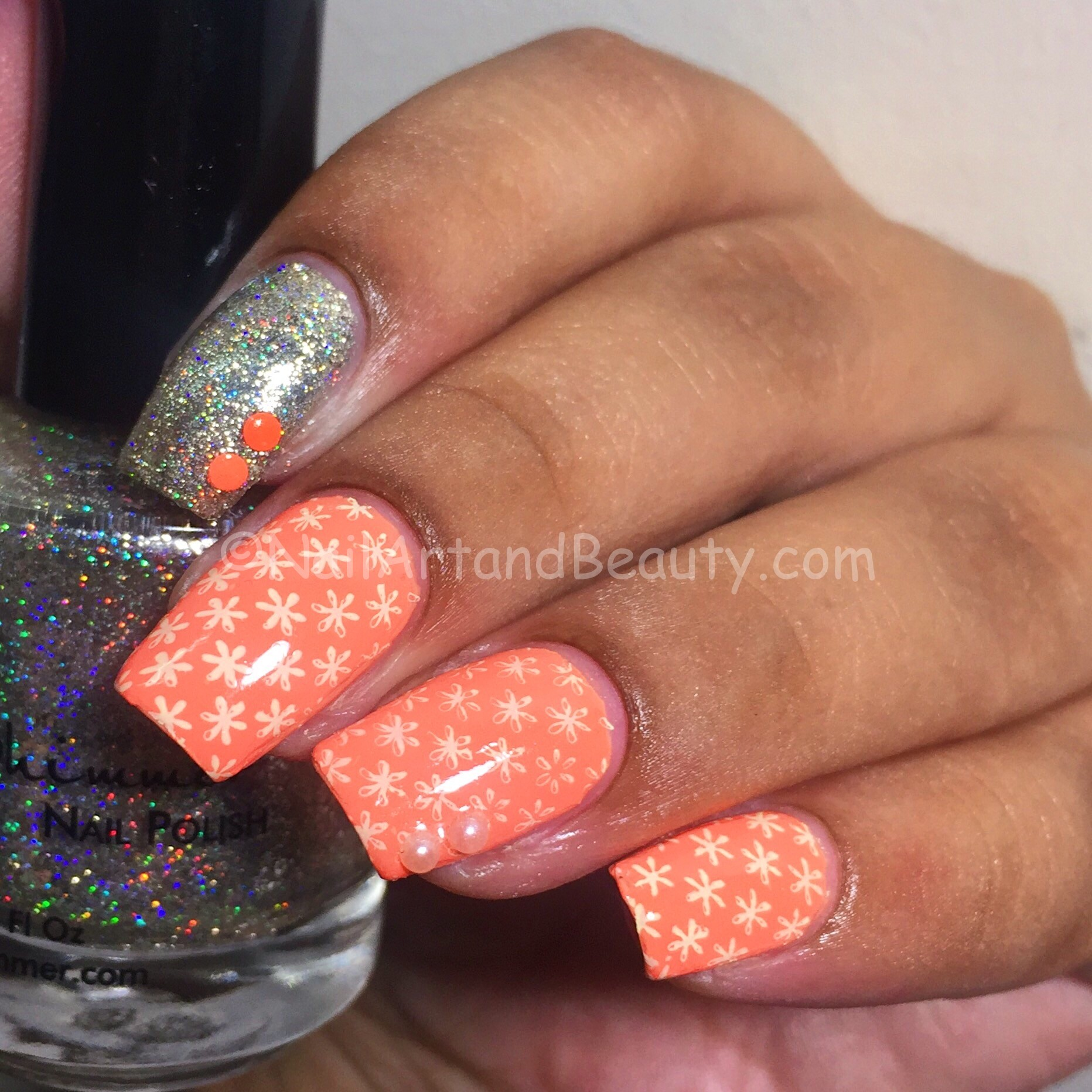 Tangy Peach Nails