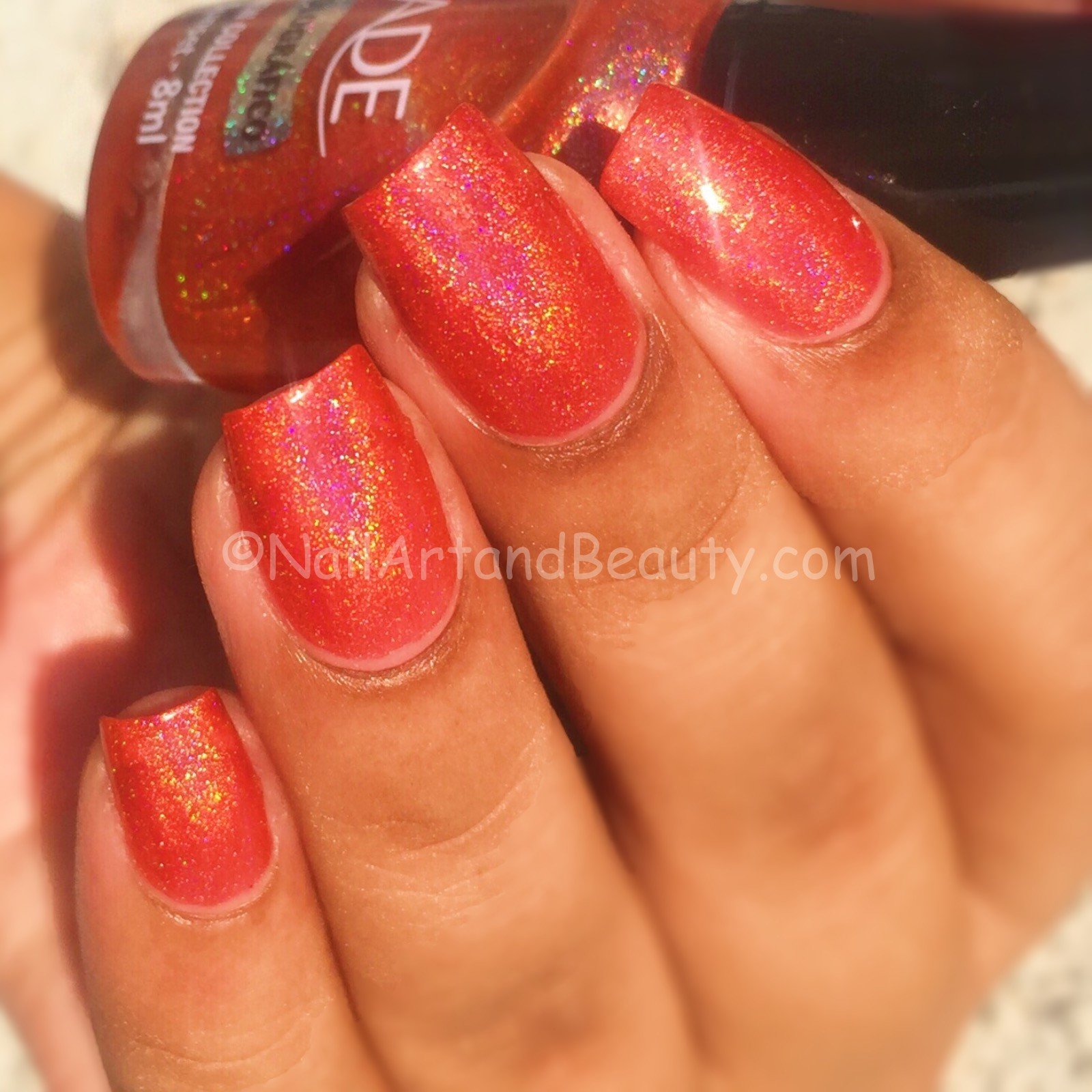 Jade Halographic Sunset Swatch