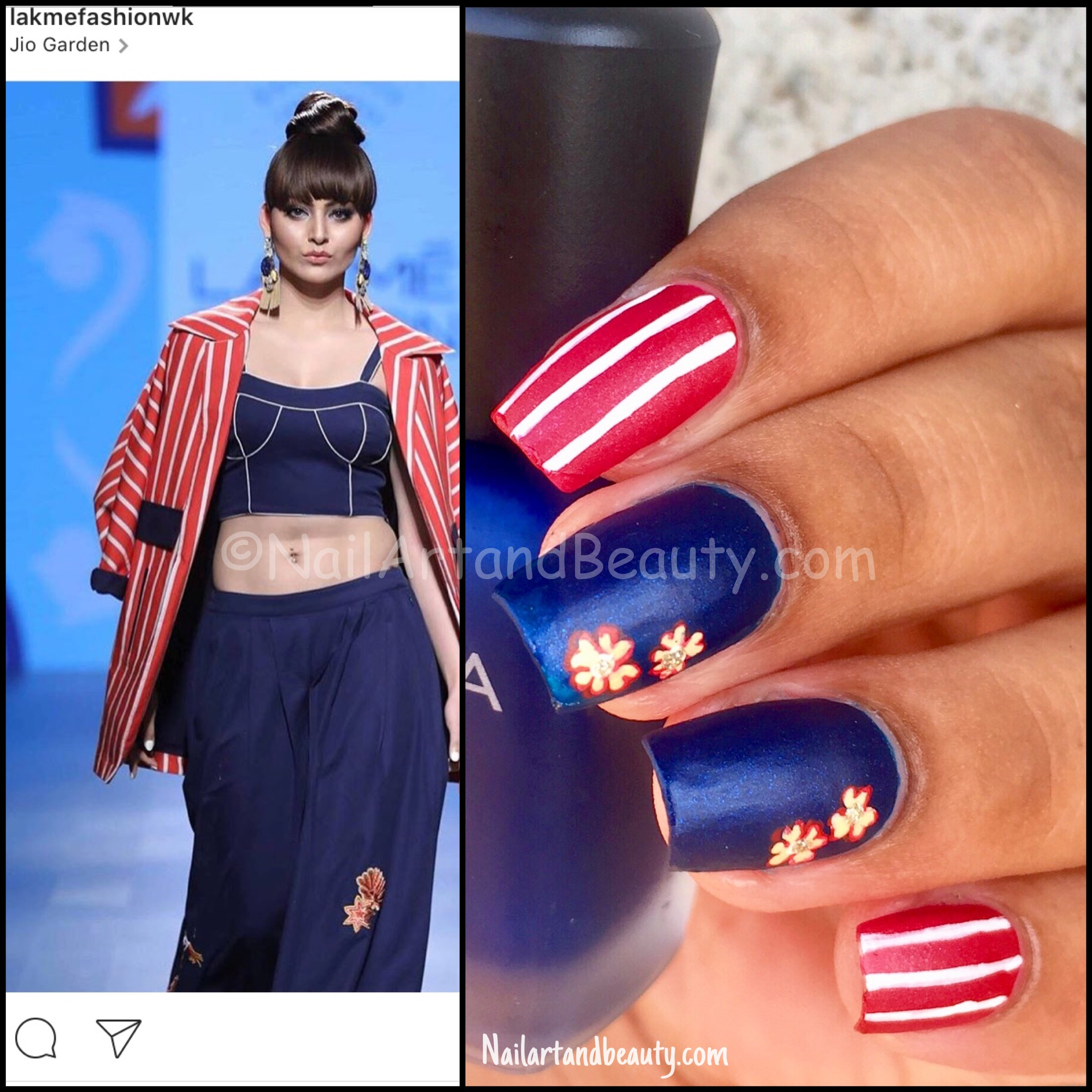 Nails Inspired by Lakme Fashion Week Inspired Nails by Rara Avis