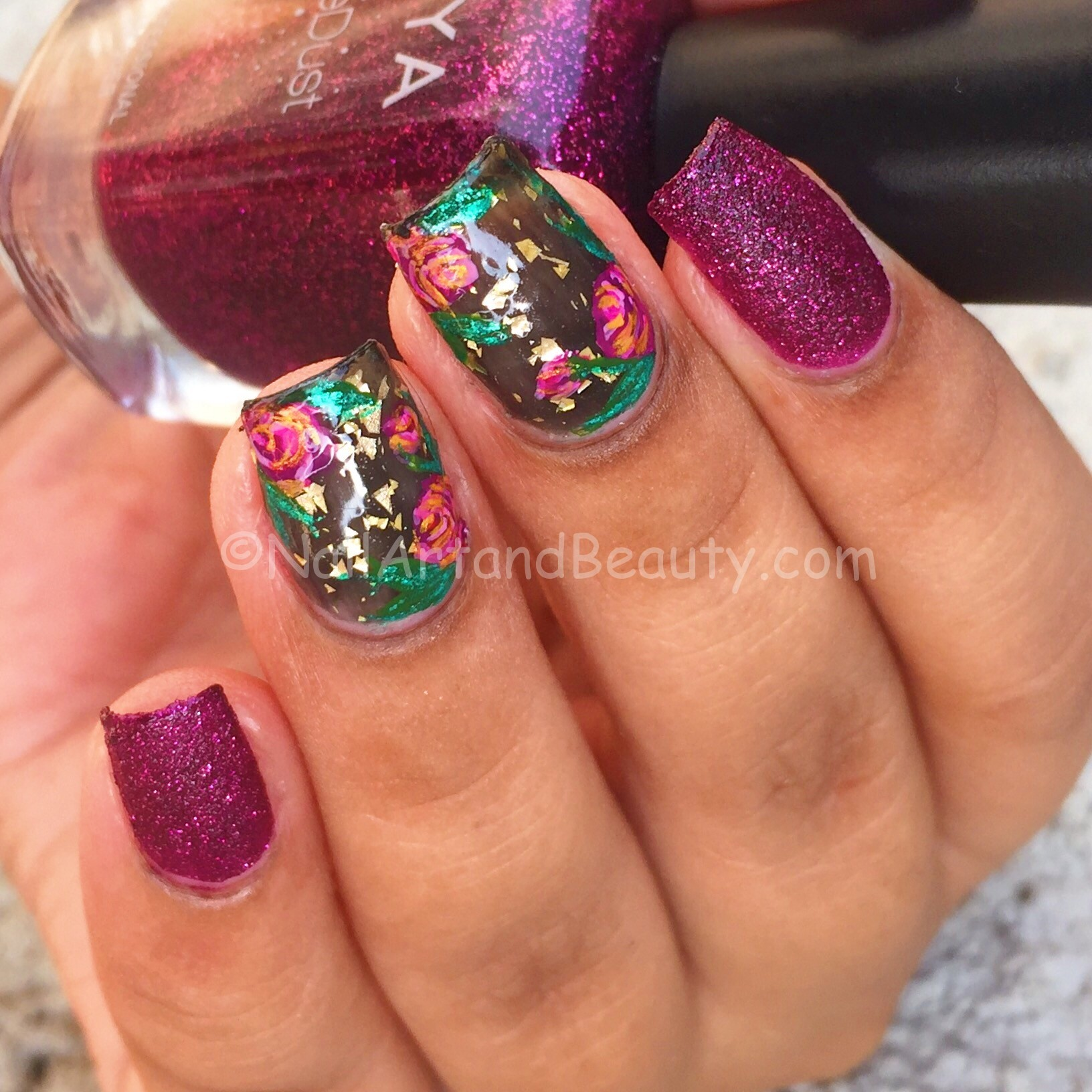 Vampy Rose Nails