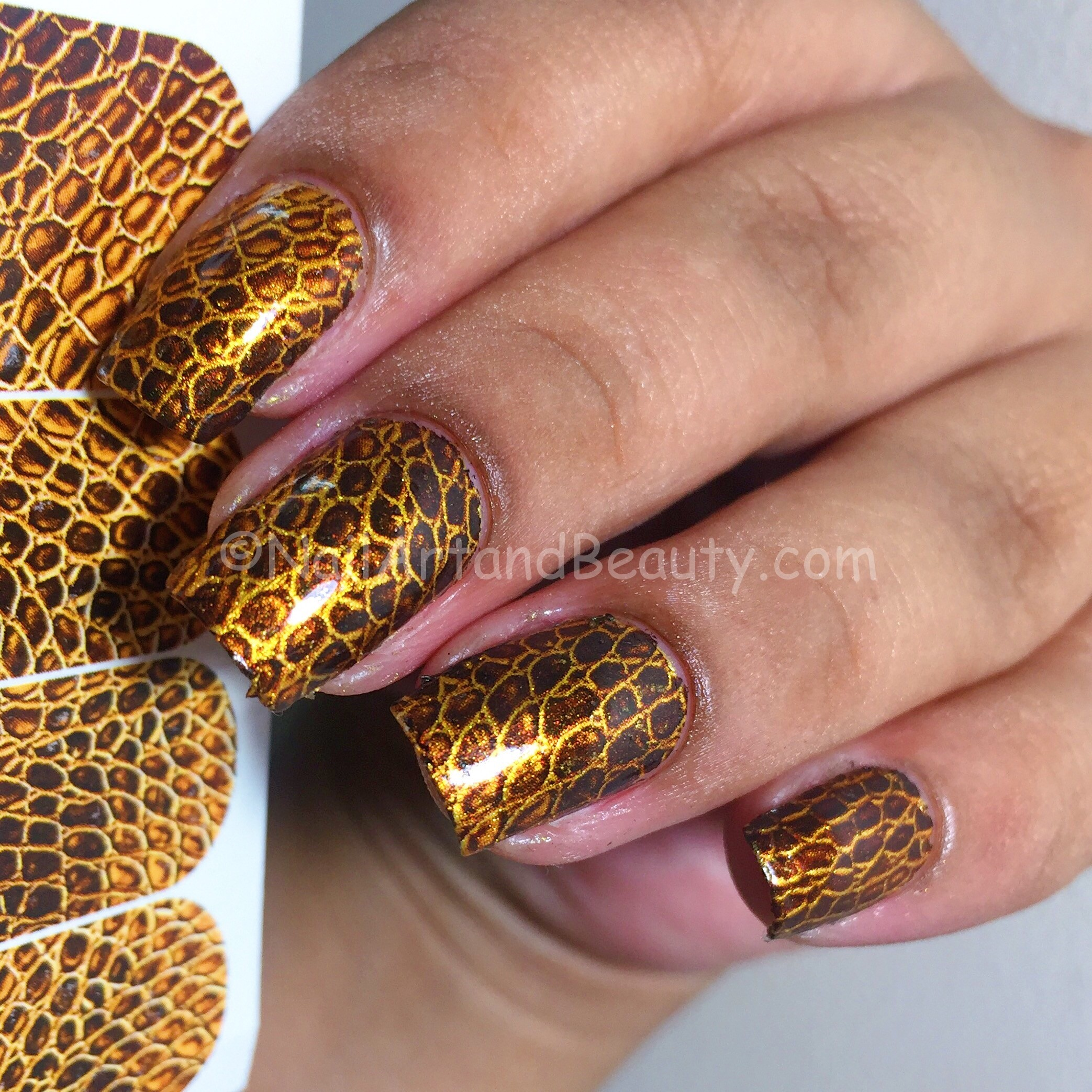 Reptile Skin Nails with MILV Decals