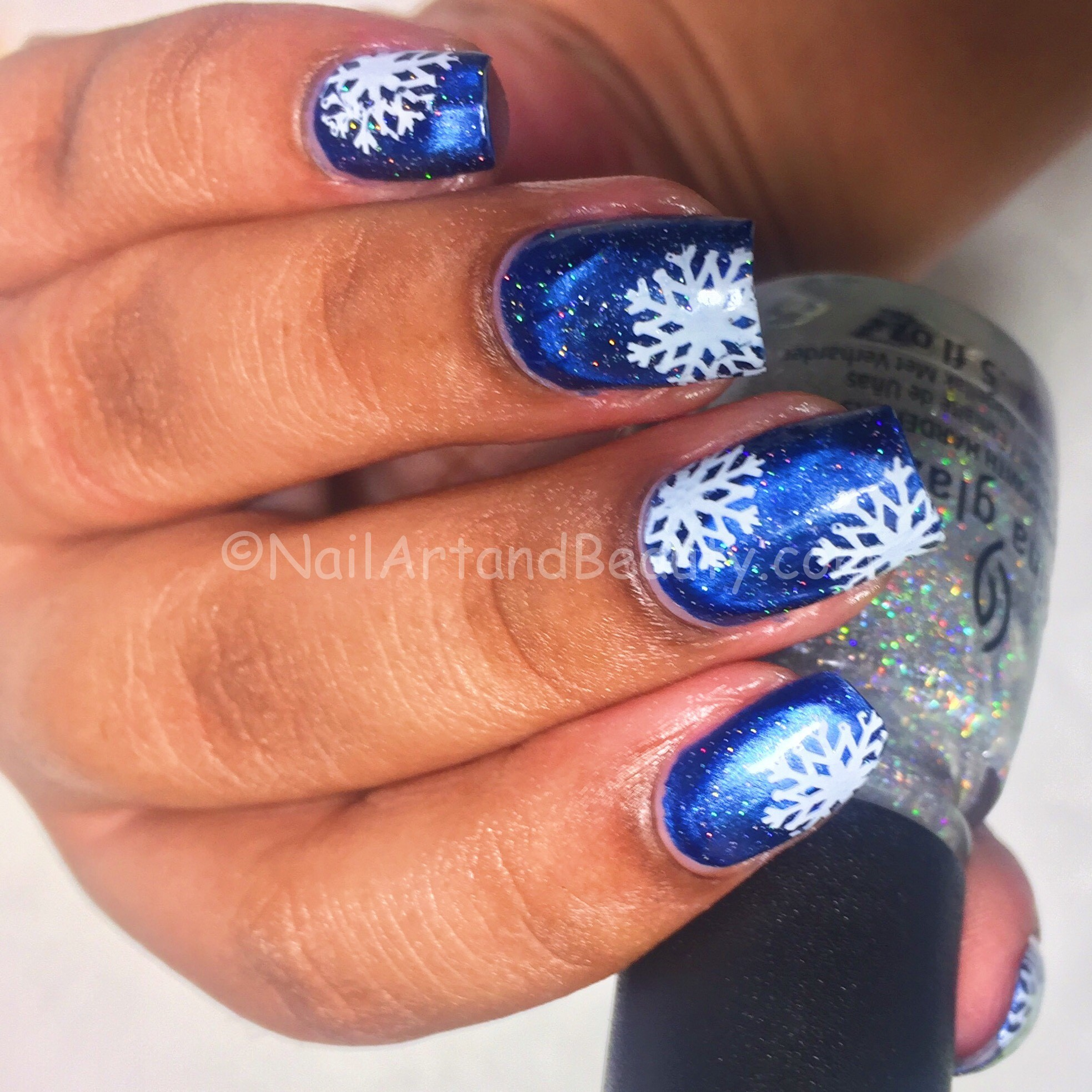 Snowy Night Mani