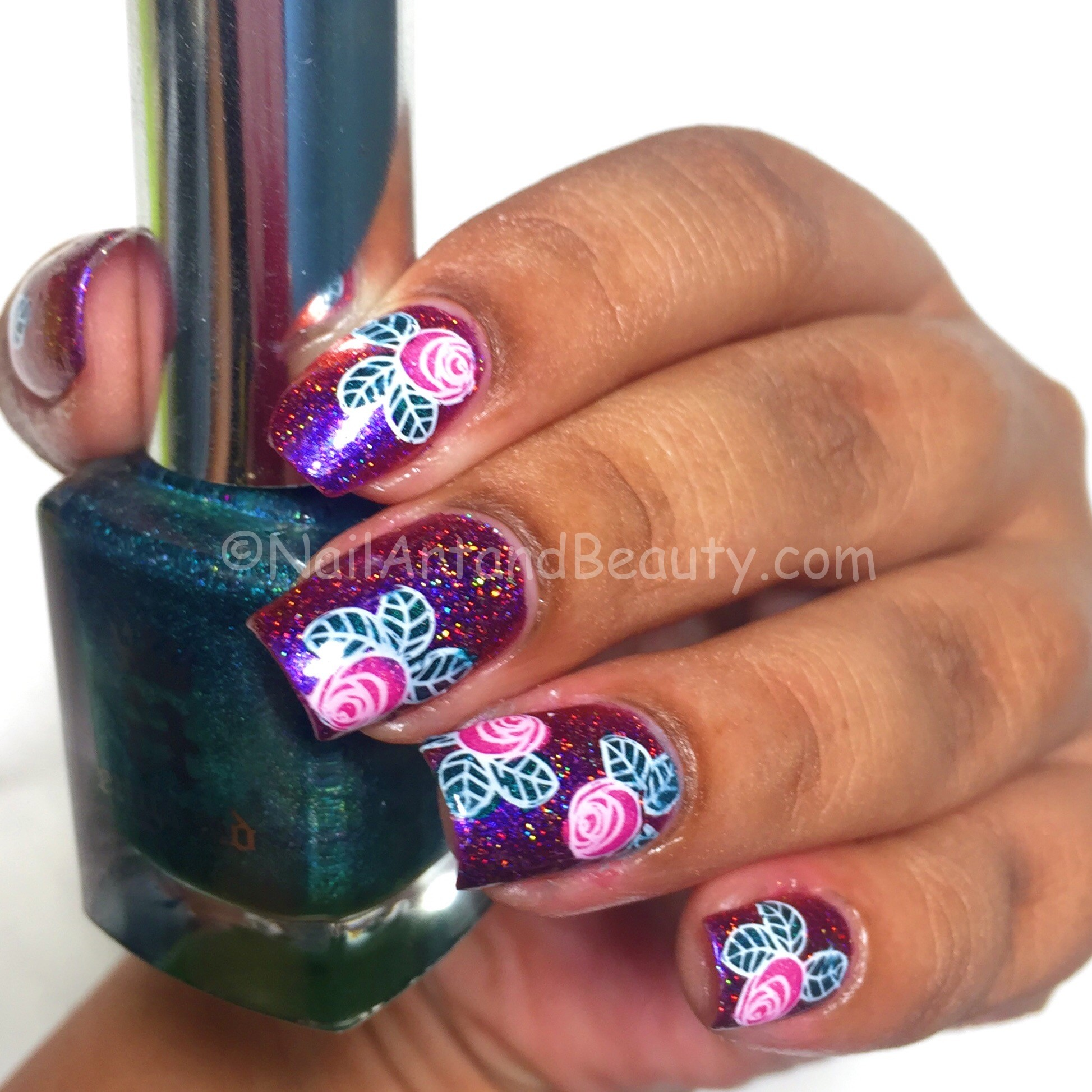 Advanced Stamping on Fun Lacquer Holiday