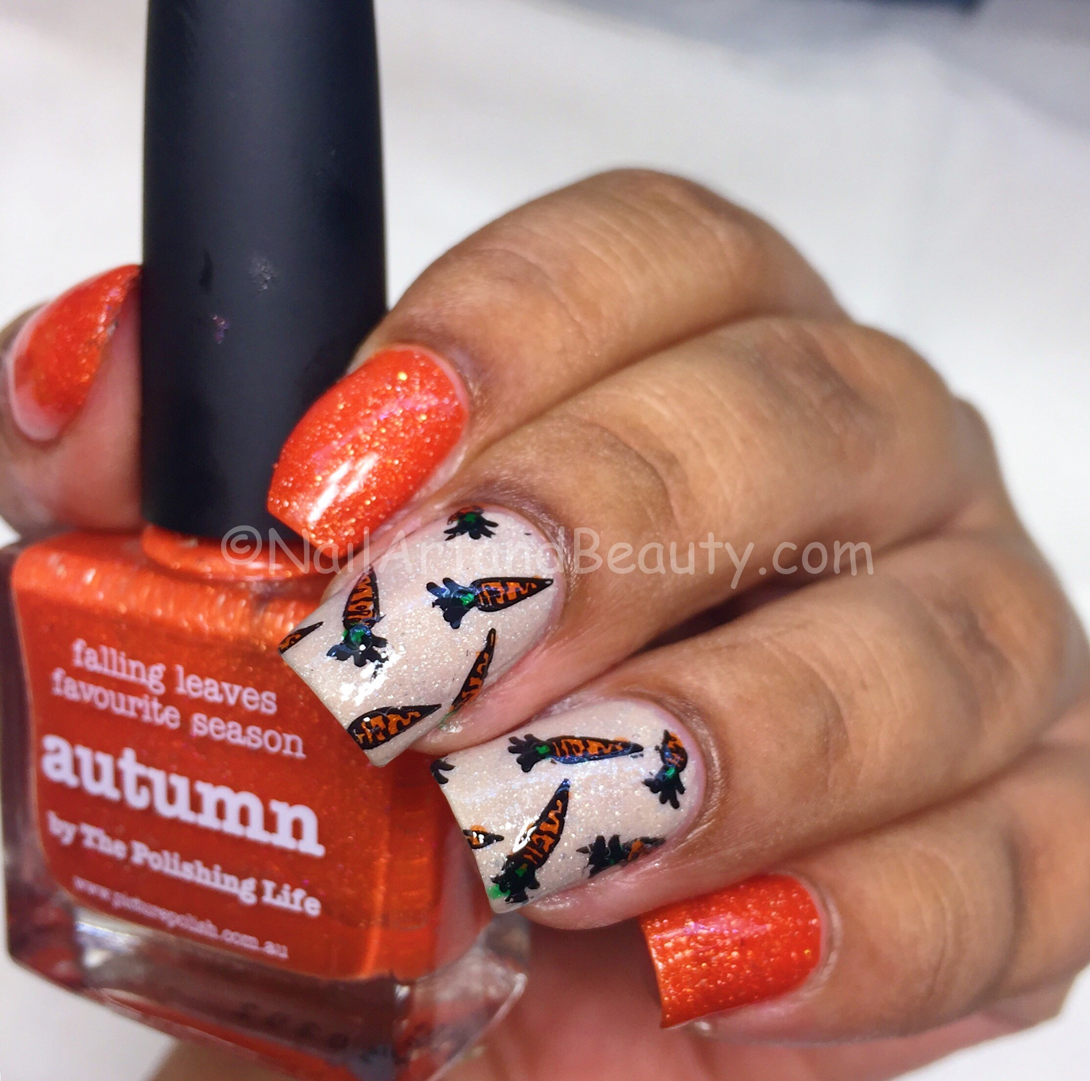 Carrot Nails with PP Cherish and Autumn