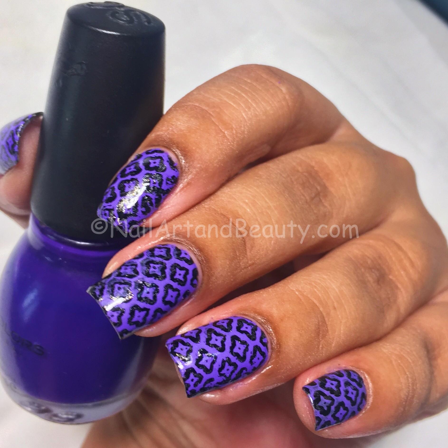Violet Stamping On Zoya Troy