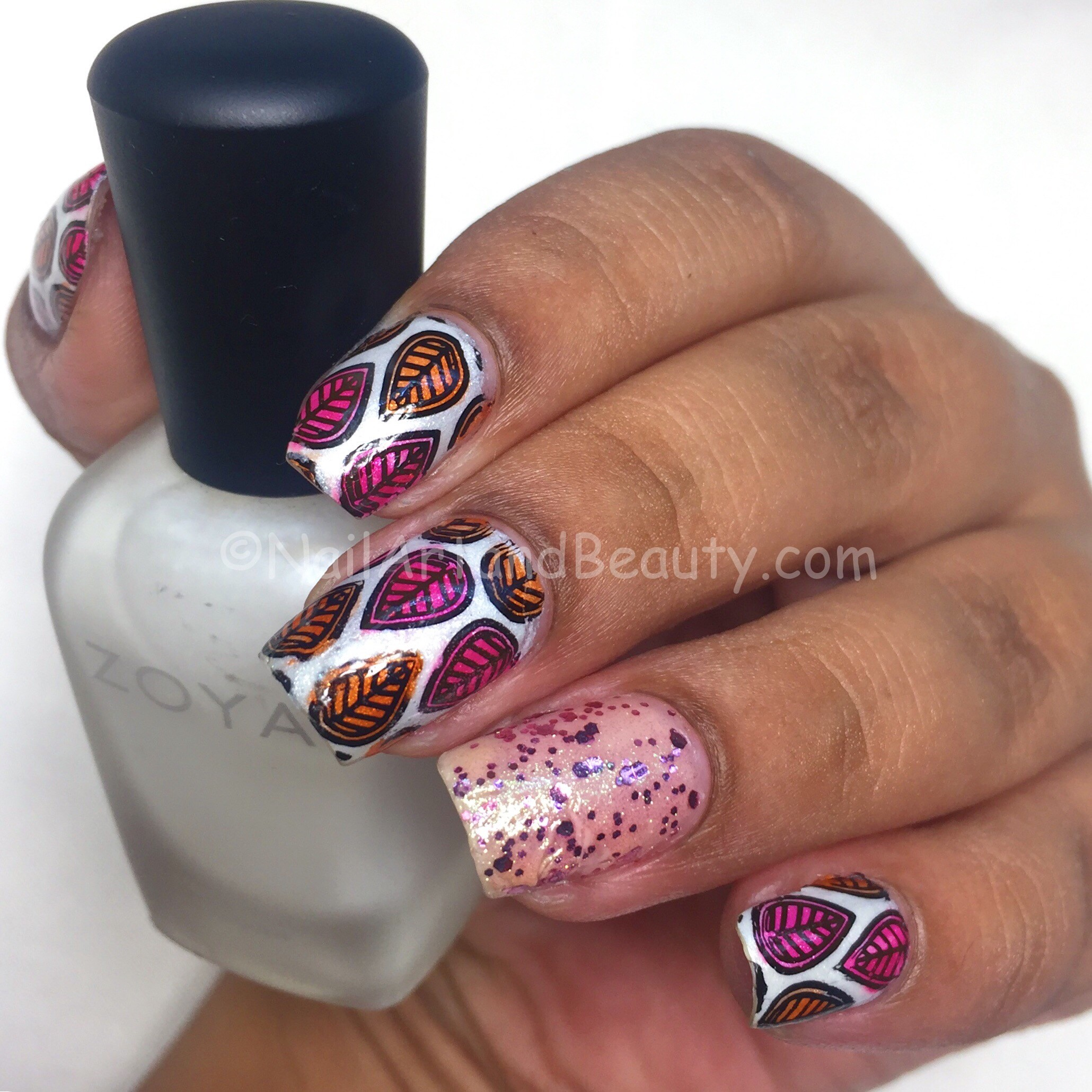 Teardrop Print Lead Light Nails