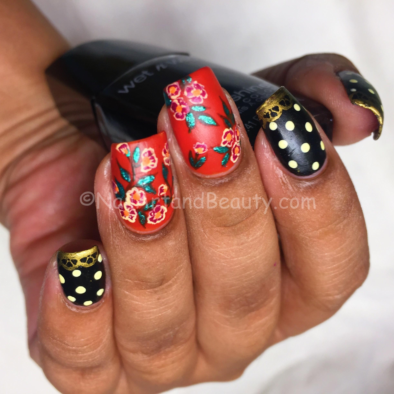 Nails Inspired by Kangana Ranaut Saree