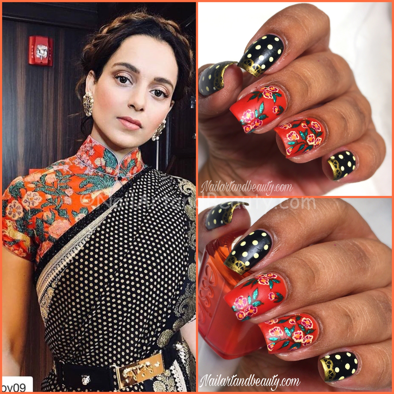 Nails inspired by Kangana Ranaut