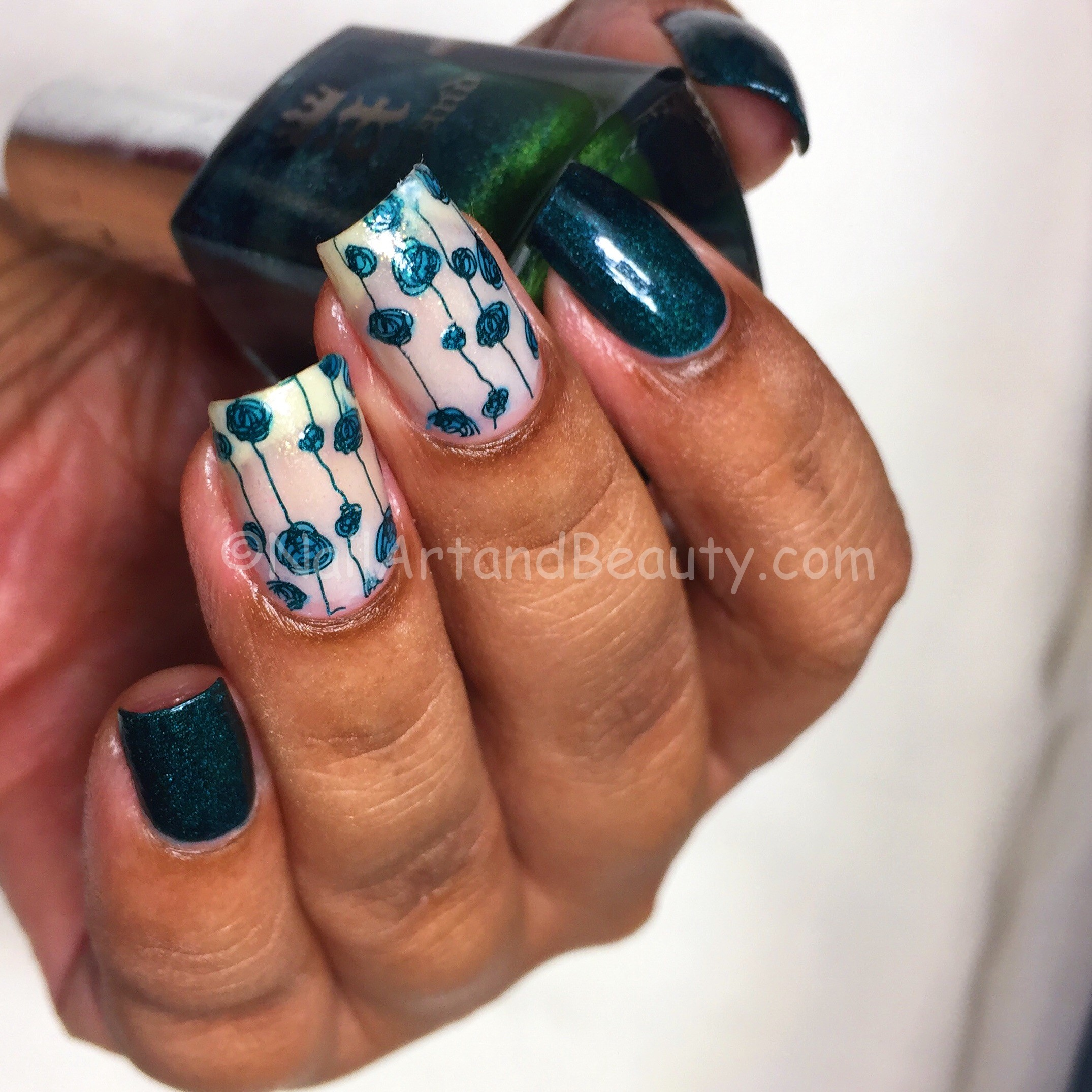 Teal Mani with A England Saint George