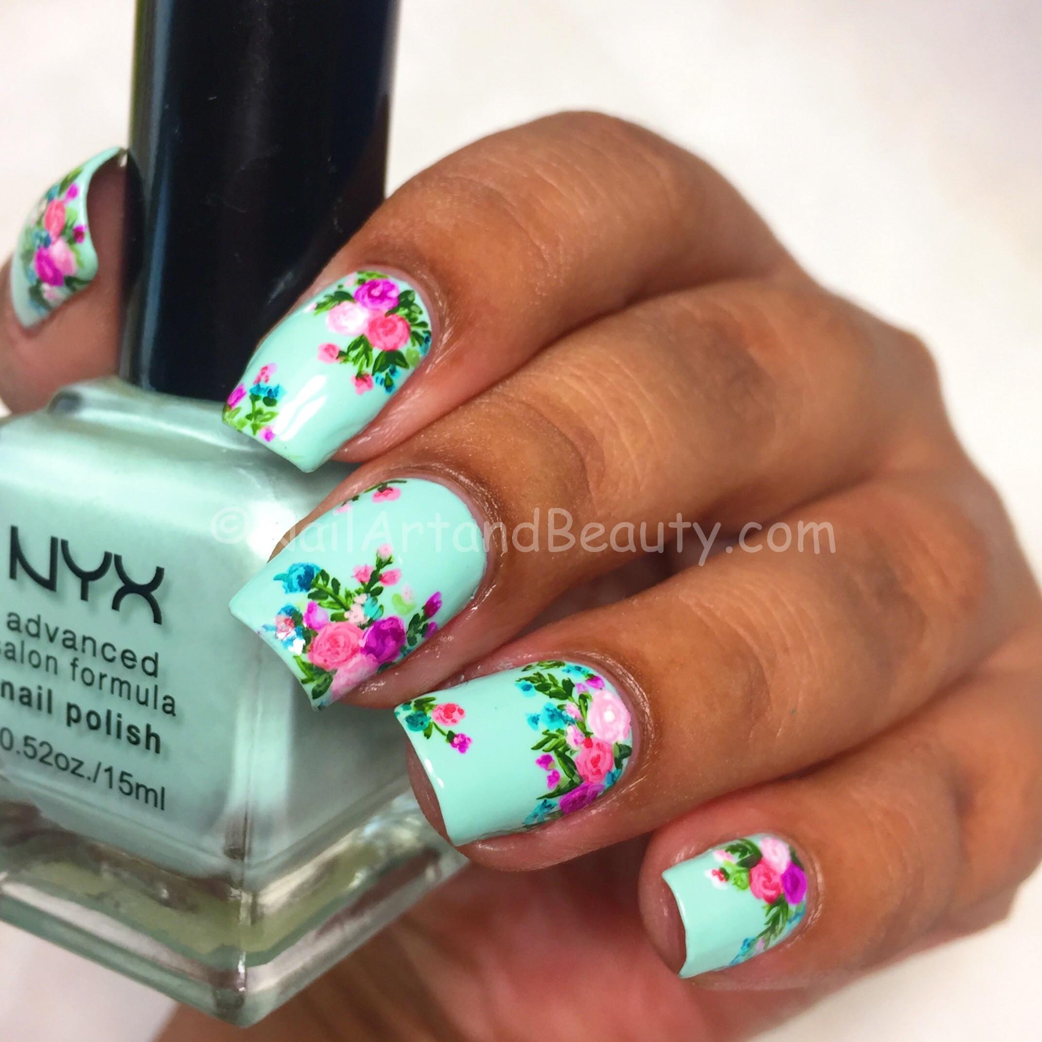 Wallpaper Inspired Nails