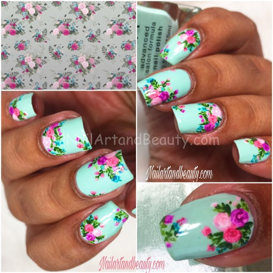 Wallpaper Inspired Nails Collage